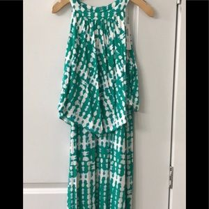 Chicos tiered Breezy Tie-dye maxi dress , size1